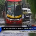 Trujillo: calles quedaron inundadas tras presencia de intensa lluvia