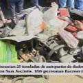Incautan 25 toneladas de autopartes de dudosa procedencia en San Jacinto