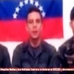 Venezuela: difunden video de tres militares pidiendo refugio en Colombia