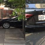 Surco: carro mal estacionado se apodera de la vereda