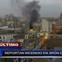 Lima: esta tarde se registró un incendio en un edificio del jirón Camaná