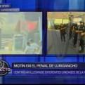 Penal de Lurigancho: internos se amotinaron y quemaron colchones