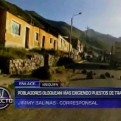 Arequipa: pobladores bloquean vías en paro de 24 horas exigiendo trabajo