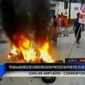 Iquitos: trabajadores de construcción civil protestan por falta de pago