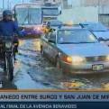 Surco: gran aniego dificultó el tránsito cerca al puente Benavides