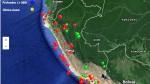 Sismos de hasta 4 grados en cinco regiones, reporta el IGP - Noticias de chiclayo