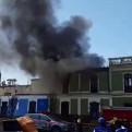 Declaran inhabitable casona de avenida Tacna tras incendio
