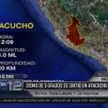 Ayacucho: sismo de 5 grados causó desprendimiento de rocas y rajaduras