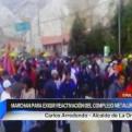 La Oroya: pobladores marcharon por la reactivación del complejo metalúrgico