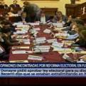 Reforma electoral generó discrepancias en Fuerza Popular