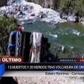 Apurímac: 13 muertos y 20 heridos dejó despiste de bus interprovincial