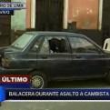 Cercado de Lima: policía y cambista resultaron heridos en asalto y balacera