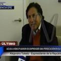 Toledo acusó a Keiko Fujimori de emprender una persecución política en su contra