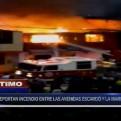 San Miguel: voraz incendio en una vivienda entre avenidas Escardó y La Marina