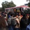 Estudiantes de la San Antonio Abad retienen buses como medida de protesta