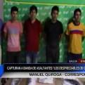 Amazonas: capturan a banda de asaltantes 'Los despreciables de Ocalli'