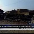 Trujillo: una mujer murió tras choque de un tráiler contra una vivienda