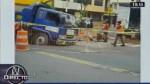 Chorrillos: plataforma cede por rotura de tubería y vecinos se quedan sin agua - Noticias de sedapal