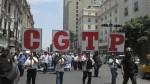Esta es la ruta de la marcha de la CGTP: respaldan la huelga de profesores - Noticias de cgtp