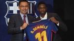 Ousmane Dembelé fue presentado en el Barcelona ante 18 mil hinchas - Noticias de fichajes 2013