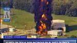 Texas: incendio consume planta química tras el paso de Harvey - Noticias de inundaciones